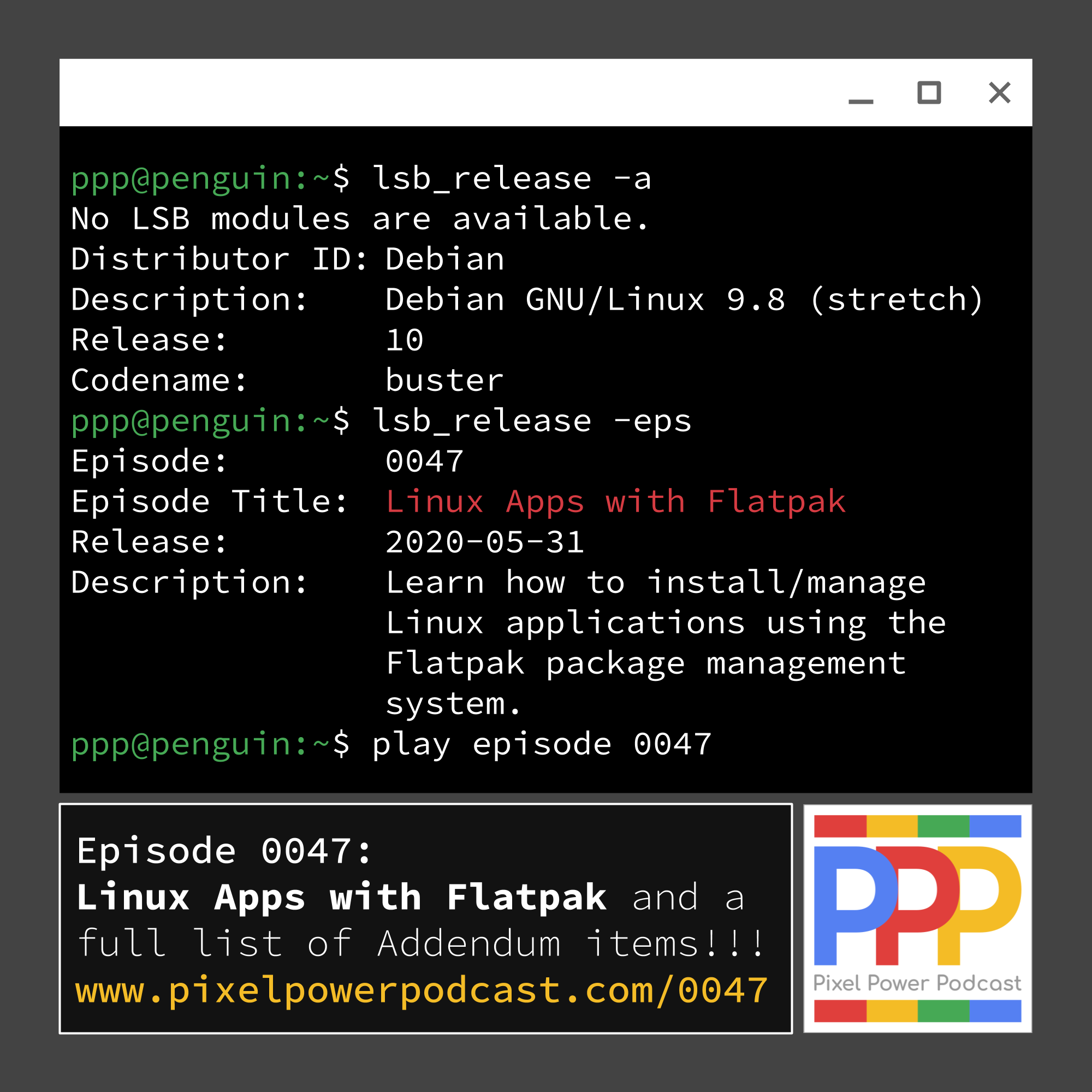 0047 Linux Apps With Flatpak Pixel Power Podcast