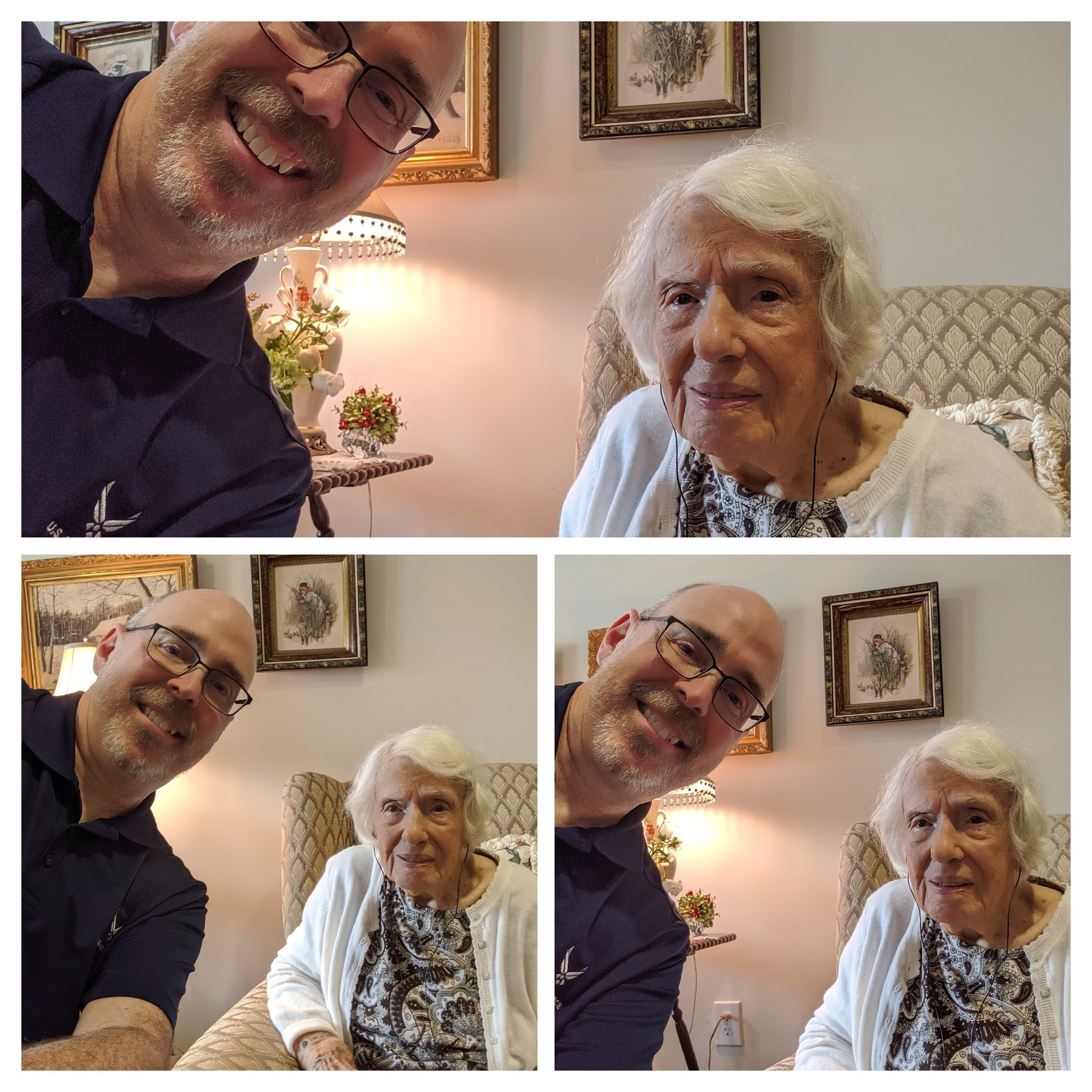 My beautiful 106-year YOUNG great aunt and her first selfie!